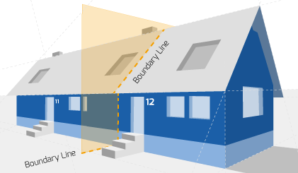 Party Wall illustration for Beccles Surveyors